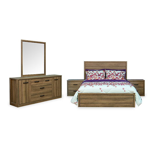 Mobilier de chambre coucher queen grand 2 places tanguay for Literie chambre a coucher adulte