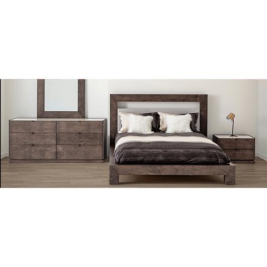 Mobilier de chambre à coucher Queen 60 po au design contemporain