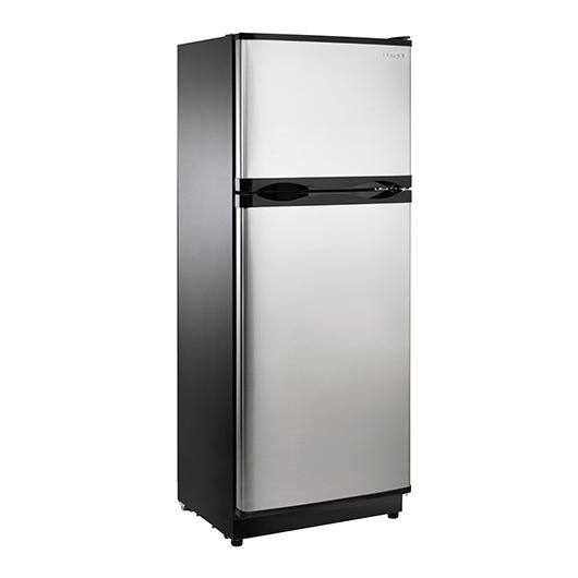 Réfrigérateur 10,3 à congélateur en haut 12V/24V panneau solaire en option Unique