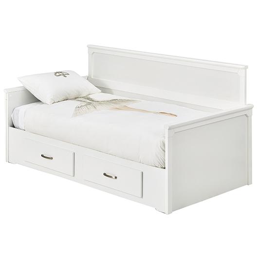 lit de jour simple avec c t s et 2 tiroirs de rangement tanguay. Black Bedroom Furniture Sets. Home Design Ideas