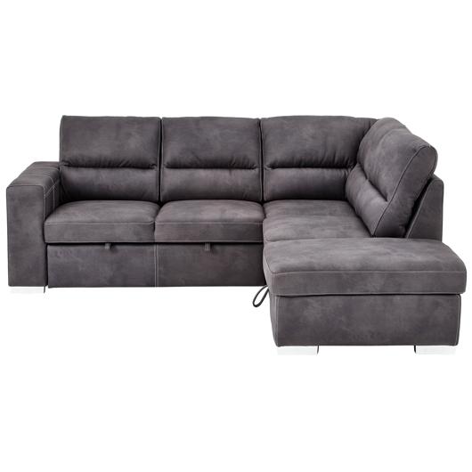 Sectionnel sofa lit avec tabouret de rangement tanguay for Divan lit sectionnel