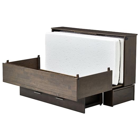 lit escamotable queen grand 2 places contemporain tanguay. Black Bedroom Furniture Sets. Home Design Ideas