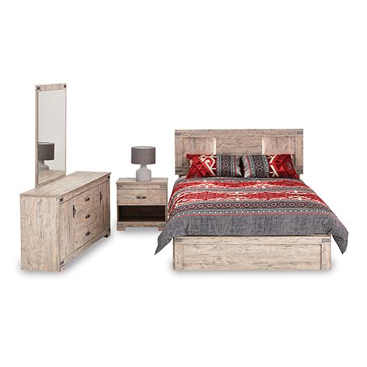 Mobilier de chambre à coucher Grand lit 2 places Meubles Concordia