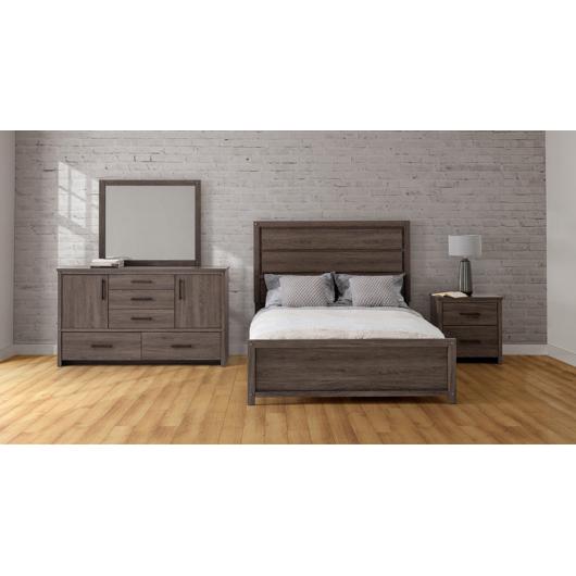 Mobilier de chambre à coucher Grand lit 2 places Defehr
