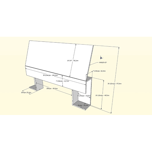 Mobilier de chambre à coucher Simple Nexera